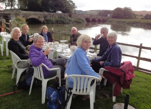 Cream Tea by the River Arun at Amberley - click picture to enlarge