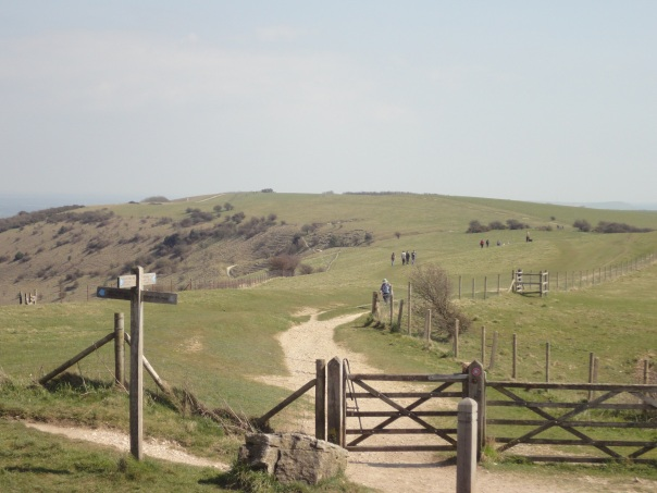 Looking eastwards along the SDW from Ditchling Beacon