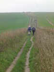 Climbing up out of the Adur valley from Upper Beeding - click to enlarge