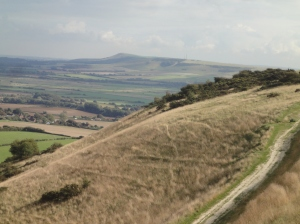 Firle Beacon beyond Ouse Valley