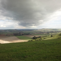 Ouse Valley from the Juggs Track with Mt Caburn (left) and Firle Beacon in distance