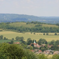 South Harting and the Rother Valley viewed from Harting Down