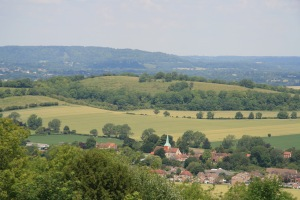 South Harting and the Rother Valley viewed from Harting Down - click to enlarge