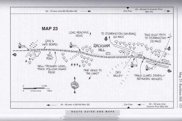 Sample of Jim Manthorpe's hand drawn maps